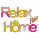 Wood lettering, Home & Relax assorted , about