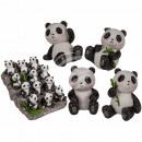 Sitting Polyresin Panda, about 3.5 x 5.5 cm, 4-fac