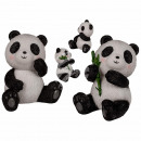 Sitting polyresin panda, about 6.5 x 10 cm, 2-fold
