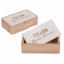 Naturfarbene Holz-Box mit weißem Deckel, Follow…