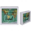 White Money Bank, Holiday Fund, World Map Design