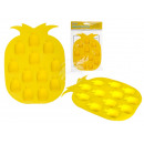 Silicone ice cube maker, pineapple, 12 ice cubes,