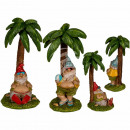 Polyresin garden gnome on island, about 8.5 x 16.5