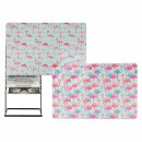 Polypropylene placemat, Flamingo, about 43.5 x 28.