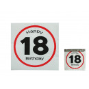 Paper napkins, Happy Birthday - 18, ca. 33 x 33 cm