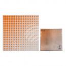 Serviettes en papier avec des points néon orange