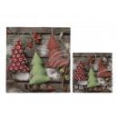 mayorista Papel regalo: Servilletas de papel, coloridos árboles de Navidad