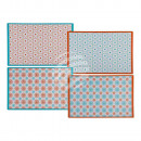 Polypropylene placemat with Mexican design, approx