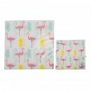 Serviettes en papier, ananas et Flamingo, environ