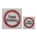 Paper napkins, Happy Birthday , about 33 x 33 cm