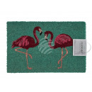 Doormat, flamingo, approx. 60 x 40 cm, for hanging
