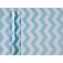 Blu / bianco a righe tessuto Deco, circa 30 cm x 5