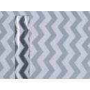 Grijs / wit gestreepte Deco stof, ongeveer 30 cm x