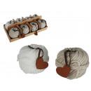 ingrosso Pendenti: Kugelkerze,  Gomitolo di lana, cuoio del pendente d