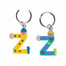 Metal Key Chain Wooden Letter Z