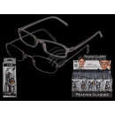 Reading glasses set with 1 plastic & 1 metal frame