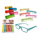 Reading glasses with plastic frame, Neon, in felt