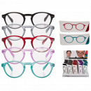 wholesale Reading Glasses: Finished reading aid with plastic frame, Round Sty