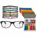 wholesale Reading Glasses: Finished reading  aid with plastic frame, neon Colo