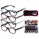 wholesale Reading Glasses: Finished reading  aid with plastic frame, Two Tone,