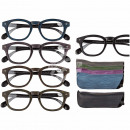 wholesale Reading Glasses: Finished reading  aid with plastic frame, Wooden Op