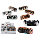 wholesale Glasses: Spectacle case, Dogs & Cats, ca. 16 cm, 8 ass., 24