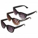Großhandel Fashion & Accessoires: Sonnenbrille für Damen, 3-farbig sortiert, ZTP4519