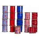 Blau & rotes Schleifenband, ca. 10 mm x 3 m