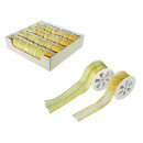 Gelbes Schleifenband, 25 mm x 3 m (12 Rollen)