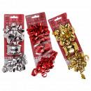Geschenkband-Set, rot, silber- & goldfarben sortie
