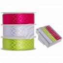 Pinkfarbenes, grünes & weißes Schleifenband