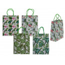 wholesale Gifts & Stationery: Paper gift bag, Tropical, approx. 18 x 8 x 23 cm,