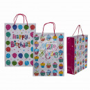 Paper Gift Bag, Happy Birthday , about 25 x 8.5