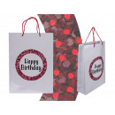 Paper gift bag, Happy Birthday , with glitter