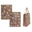 Kraft gift bag, spring decor