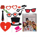 Partito Photo Panel on Stick, Cuore (Moustache