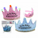 Party crown with 5 colorful LED, Happy Birthday, c