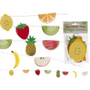 Paper garland, fruits, L: approx. 1 m, in polygum