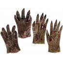 Großhandel Handschuhe:-Kunststoff Handschuh, Horror, 2-fach sortiert