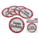 Round Cardboard Coasters, Happy Birthday , about 1
