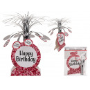 Paper table decoration, Happy Birthday , with silv