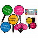 wholesale Gifts & Stationery: Paper Cake Picker, Happy Birthday , about 5 x 9.5