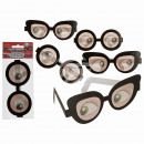 Paper glasses, joke glasses, 2 times assorted , ti