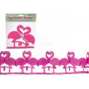 Paper Garland, Flamingo, L: 2 m, in plastic zakken