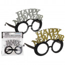 Plastic party glasses with glitter, Happy ...