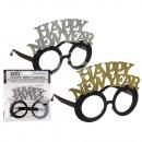 Kunststoff-Party-Brille mit Glitter, Happy …
