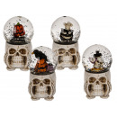Polyresin glitter ball, halloween figure