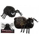 Czarny pająk ze zmianą koloru diody LED (wł. Bat