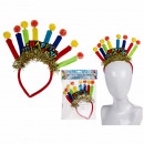 Plastic headband, Happy Birthday with plush ker
