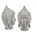Cement Dekokopf, Buddha , environ 15,5 x 9 cm